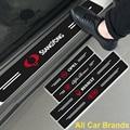 4 шт. порога плиты педаль украшения Стикеры для Dacia Duster Logan Sandero Lodgy Stepway Mcv 2 авто аксессуары