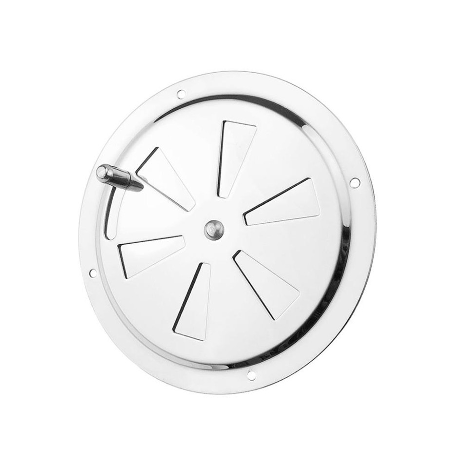 SEAAN Round Air Louver Vent & Side Knob Opening Grille Cover Marine Boat Stainless Steel Ventilation Louvered Vent