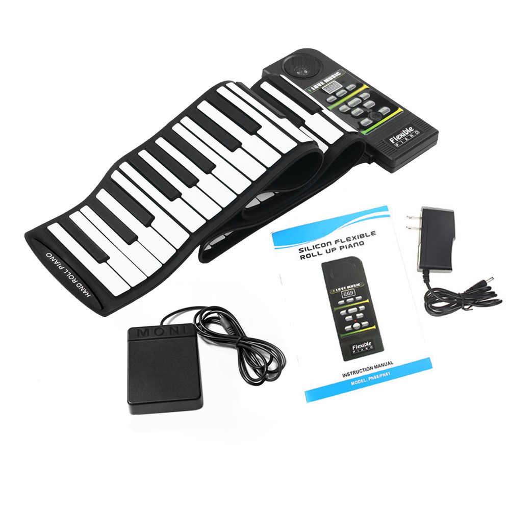 Heiße Neue 88 Schlüssel Elektronische Klavier Tastatur Silicon Flexible Roll Up Piano mit Lautsprecher