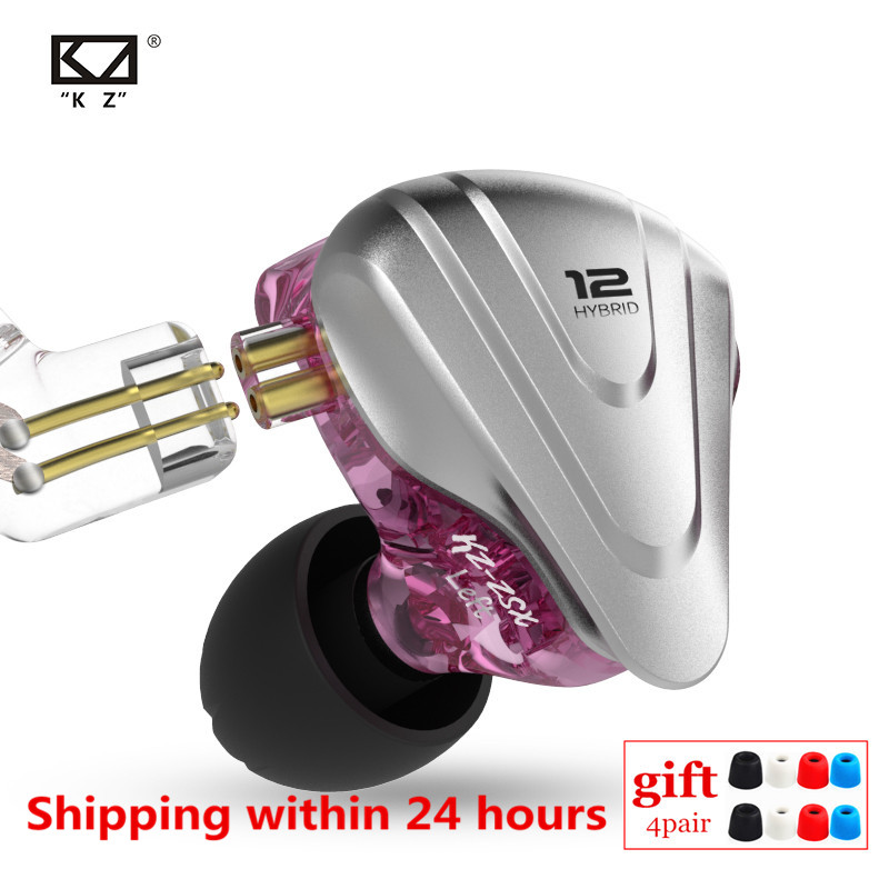 Kz zsx 1dd + 5ba terminator híbrido in-ear fones de ouvido de alta fidelidade metal fone de ouvido música esporte zs10 pro as12 as16 zsn pro v80 x6 dms