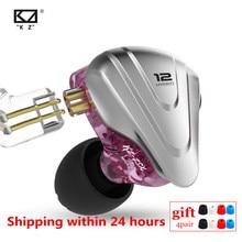 Kz zsx 1dd + 5ba terminator híbrido in ear fones de ouvido de alta fidelidade metal fone de ouvido música esporte zs10 pro as12 as16 zsn pro v80 x6 dms