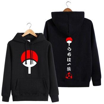 Naruto wokół bluzy z kapturem miłośników jesień długie rękawy uchiha sasuke ubrania druga kurtka yuan 2019 nowe fajne bluzy