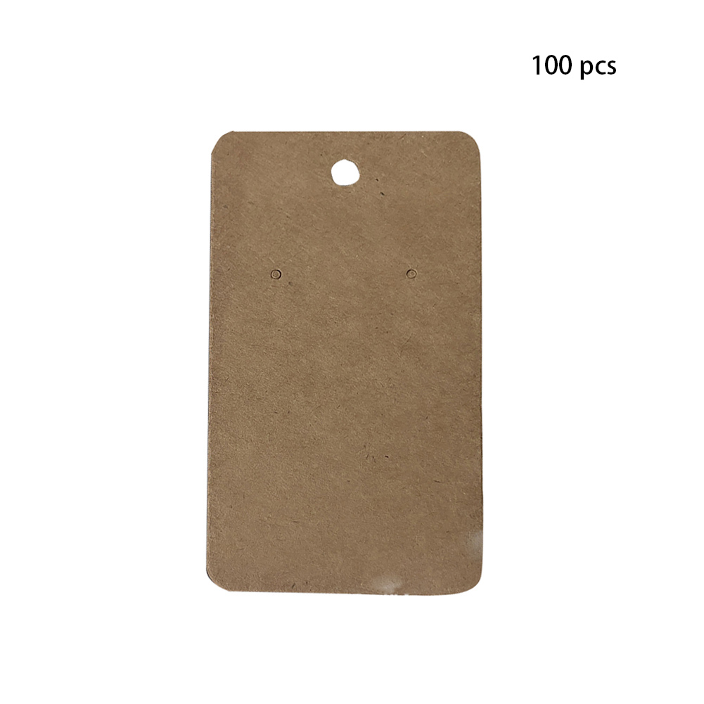 100pcs Tag Package Hanging Cardboard Paper Gift Jewelry Accessories Retro Plain Earring Cards Label Display Holder For Ear Studs