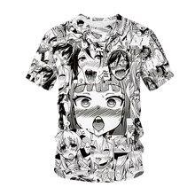 Camiseta anime 3d impressão masculina streetwear hentai padro o pesco hip hop t camisa harajuku roupas casuais sexy me