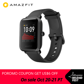 In Stock 2020 Global Amazfit Bip S Smartwatch 5ATM waterproof built in GPS GLONASS Bluetooth Smart Watch for Android iOS Phone
