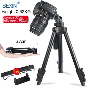 Travel Accessories Aluminum portable lightweight Camera Tripod stand with 3 Way tripod head for Canon nikon slr Dslr camera
