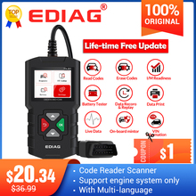 Считыватель кодов Ediag YA201, сканер OBDII/EOBD для автомобиля, PK KW680 CR319 AD310