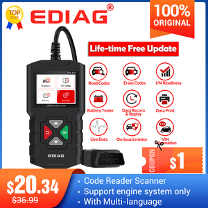 Image 1 - اديج YA201 رمز القارئ OBDII/EOBD YA 201 USB ترقية OBD2 الماسح الضوئي YA101 أدوات للسيارات PK KW680 CR319 AD310 لاختبار السيارات