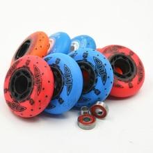 4 pçs 90a slide rei patins inline roda com vermelho azul 72 76 80 rolo rodas 90 duro 80mm patinação 52 firestone flint faísca ILQ-9