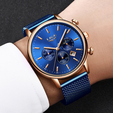 LIGE New Watch For Men Fashion Sport Blue Quartz Clock Mens Watches Top Brand Lu