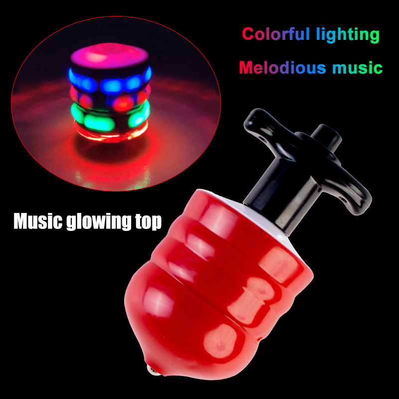 LED Toys Light Up Rotary Desktop Football Gyro Color Music Spinning Top Glowing Toy NSV775 enlarge