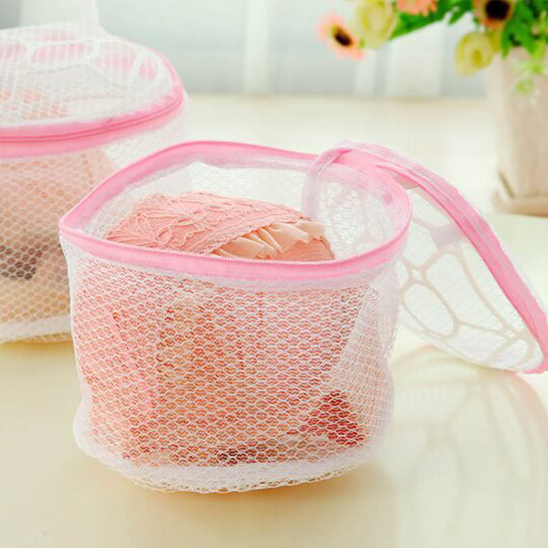 Fashion Lingerie Washing Home Use Mesh Clothing Underwear Organizer Washing Bag Useful Mesh Net Bra Wash Bag Zipper Laundry Bag