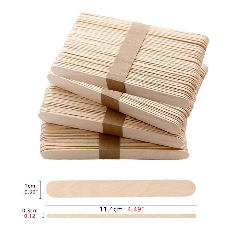 100Pcs/Set Popsicle Sticks Natural Wooden Pop Popsicle Sticks 11.4CM Length Wood Craft Ice Cream Sticks Popsicl Accesorios