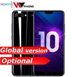 Honra 10 telefone móvel honra 10 19:9 tela cheia 5.84 polegada ai câmera octa núcleo impressão digital id nfc android 8.1