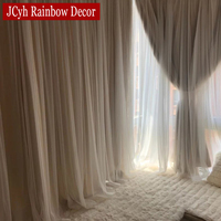 Cortina opaca romántica japonesa para sala de estar, cortinas opacas para dormitorio de niñas, cortinas de tul para ventana, paneles de fiesta