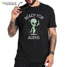 Alien T shirt I Dont Believe In Humans Black Cotton t-shirt Cartoon Fashion Pattern Storm Area 51 T-shirts EU Size