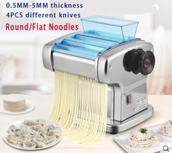 noodle press machine automatic Commercial Stainless Steel electric pasta maker machine Dough Cutter dumpling skin machine 220V