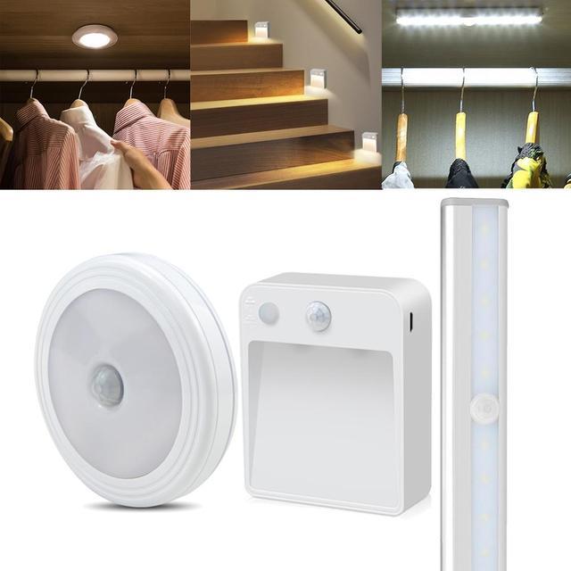 Sensor LED Nachtlampje Keuken Wandlamp PIR Motion Sensor Beweging Detecteren kast kast trappen pathway slaapkamer Verlichting