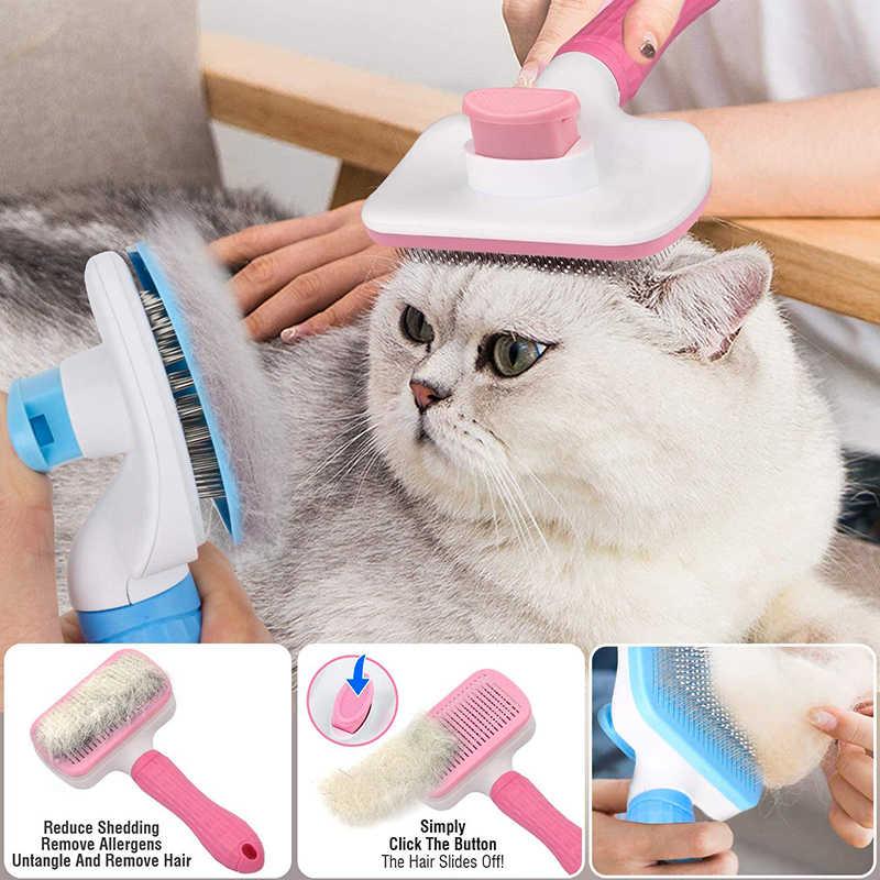 Peigne pour animaux de compagnie de particules de Massage de brosse de chien de nettoyage d'individu de Benepaw pour des chiens