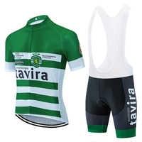 2020 nova tavira camisa da equipe de ciclismo 20d bicicleta shorts conjunto mtb ropa ciclismo dos homens manga curta pro camisas maillot roupas