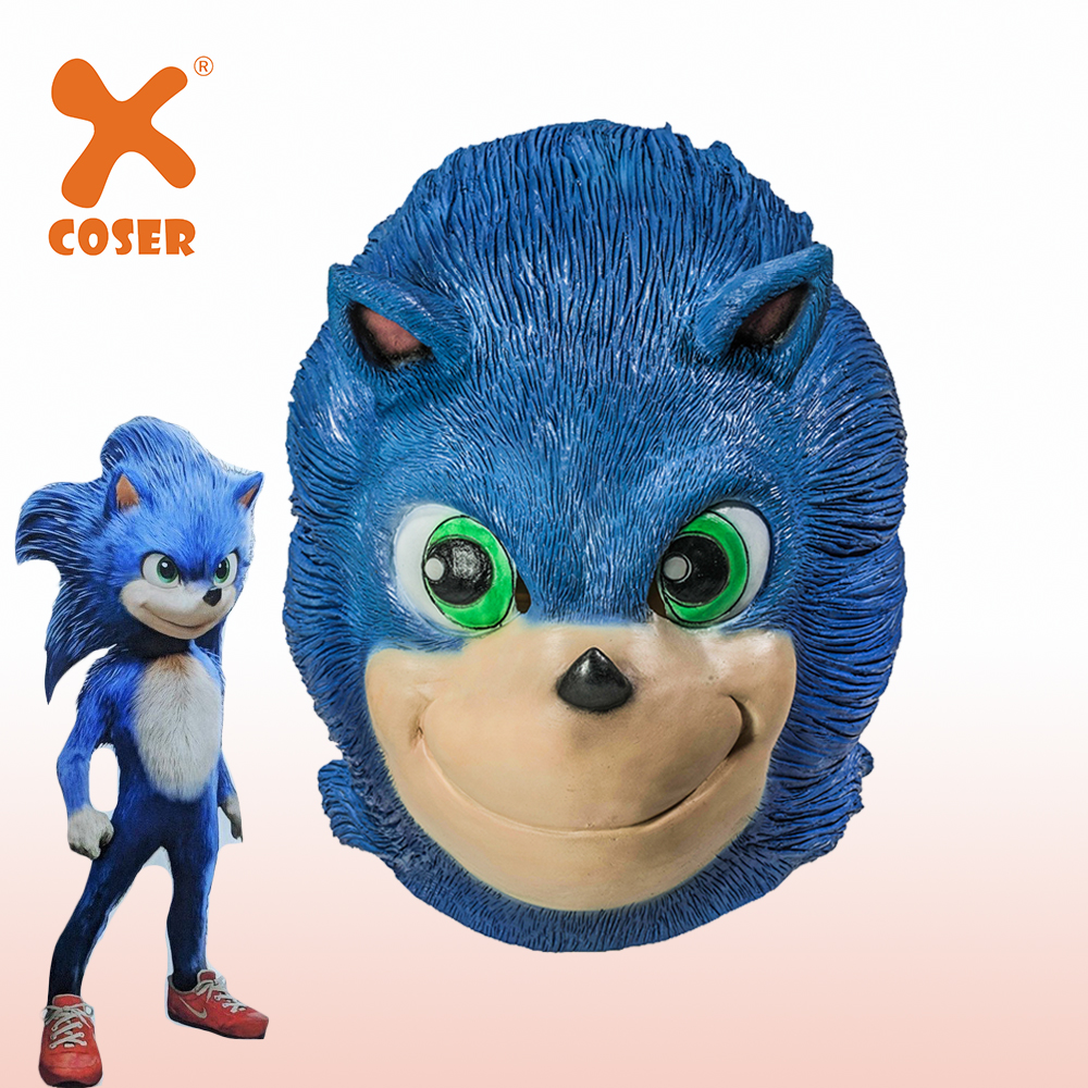 Xcoser Sonic The Hedgehog Film Sonic Mask Cospaly Mask High Quality Latex Mask Halloween Party Props Cosplay Headwear Accessory Anime Costumes Aliexpress