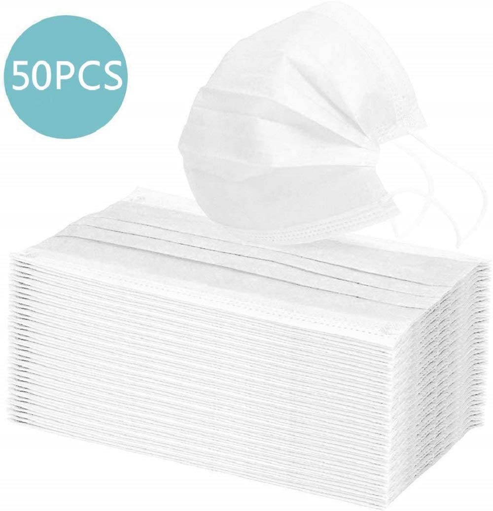 5/10/20/50PCS Disposable Protective Mask Dustproof Facial Protective Cover Masks Color White