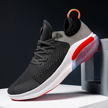 2020 Mesh Men Casual Shoes Breathable Comfortable Lightweight Lace-up Footwear Walking Sneakers Male Running Sport Shoes Classic lightweight male casual shoes fashion fly weave breathable air mesh men sneakers 2018 summer comfortable walking shoes 39 44