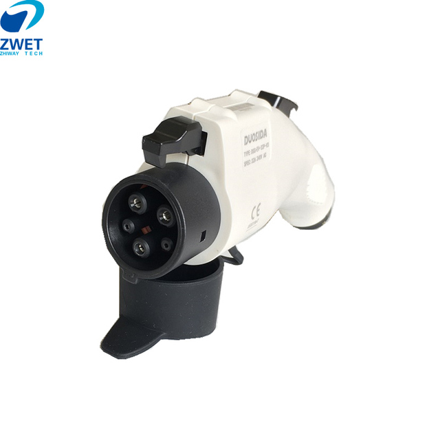 ZWET Sae j1772 chargeurs de véhicule électrique fiche câble EVSE prise femelle pour 32A 240V AC