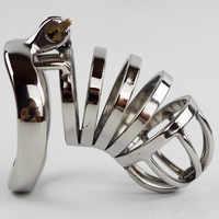 40/45/50mm Abschließbare Penis Lock Edelstahl Cock Cage Penis Metall Ring Keuschheit Gerät Werkzeug Sex spielzeug für Männer