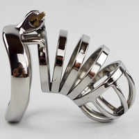 40/45/50mm Lockable Penis Lock Stainless Steel Cock Cage Penis Metal Ring Chastity Device Tool Sex Toys for Men