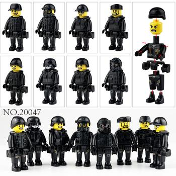 8pcs/set Military Special Forces Soldiers Bricks Figures Guns Weapons Compatible Legoings Armed SWAT Building Blocks Kids Toys 12pcs set military wapen special armed forces soliders action figures gun toys building blocks compatible legoings for child