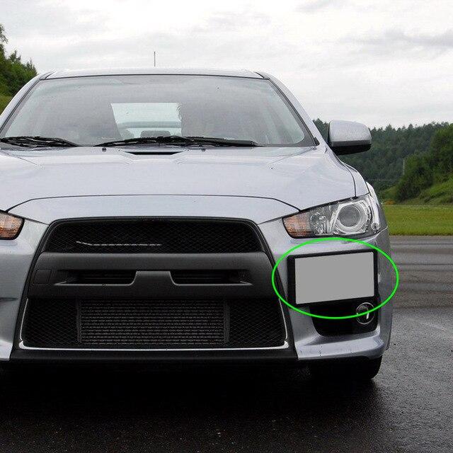 אביזרי רכב ABS 1Pcs לוחית רישוי מסגרת Relocator בסיס אוטומטי קדמי פגוש להתקין עבור מיצובישי לנסר GTS EVO X 2008 2018