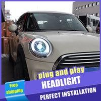 2PCS Car Style LED headlights for BMW mini F56 2014 2019 for head lamp LED DRL Lens Double Beam H7 HID Xenon bi xenon lens