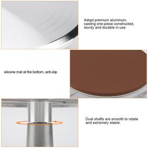 Image 5 - Aluminum + Silicone 12inch Cake Turntable Rotating Revolving Decorating Stand Pastry Baking Decor Tool