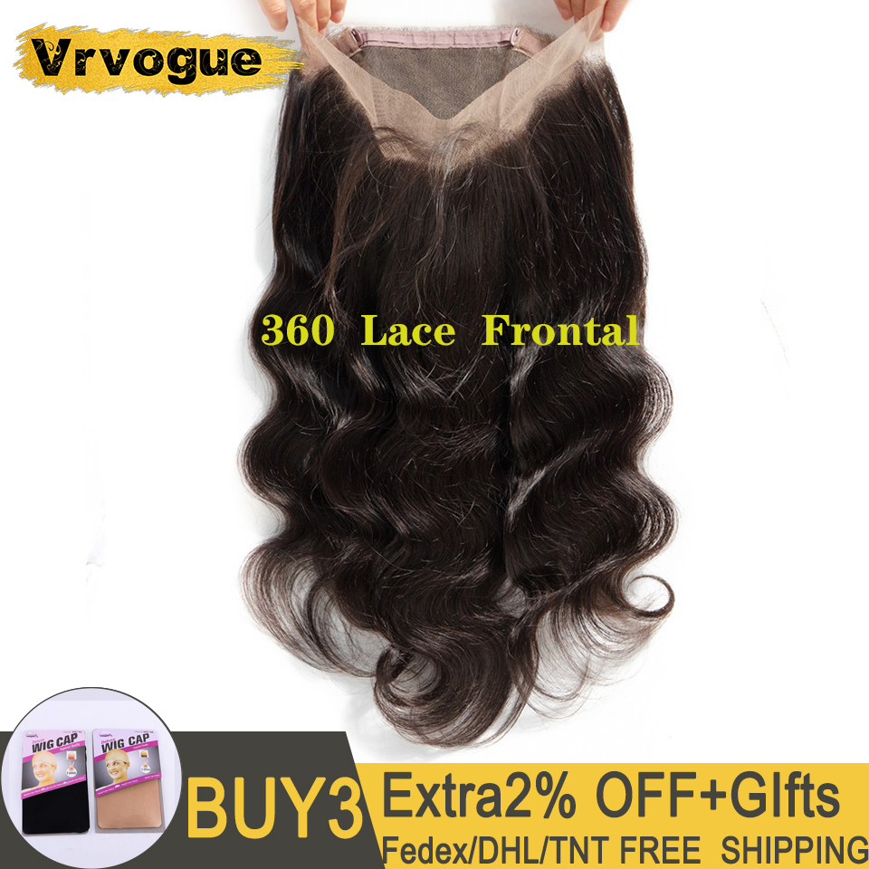 360 Lace Frontal Pre Plucked With Baby Hair Malaysian Body Wave Lace Frontal Natural Colour Remy Human Hair Vrvogue Hair
