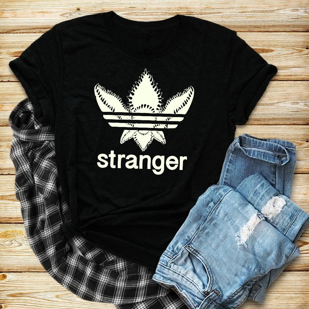 Stranger Things T Shirt For Women Funny Eleven Demogorgon Upside Down Letters Printed Tee Shirt Female T-shirt Summer Tops