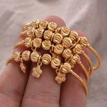 4 шт/лот дубайские браслеты для малышей/детей золотого цвета
