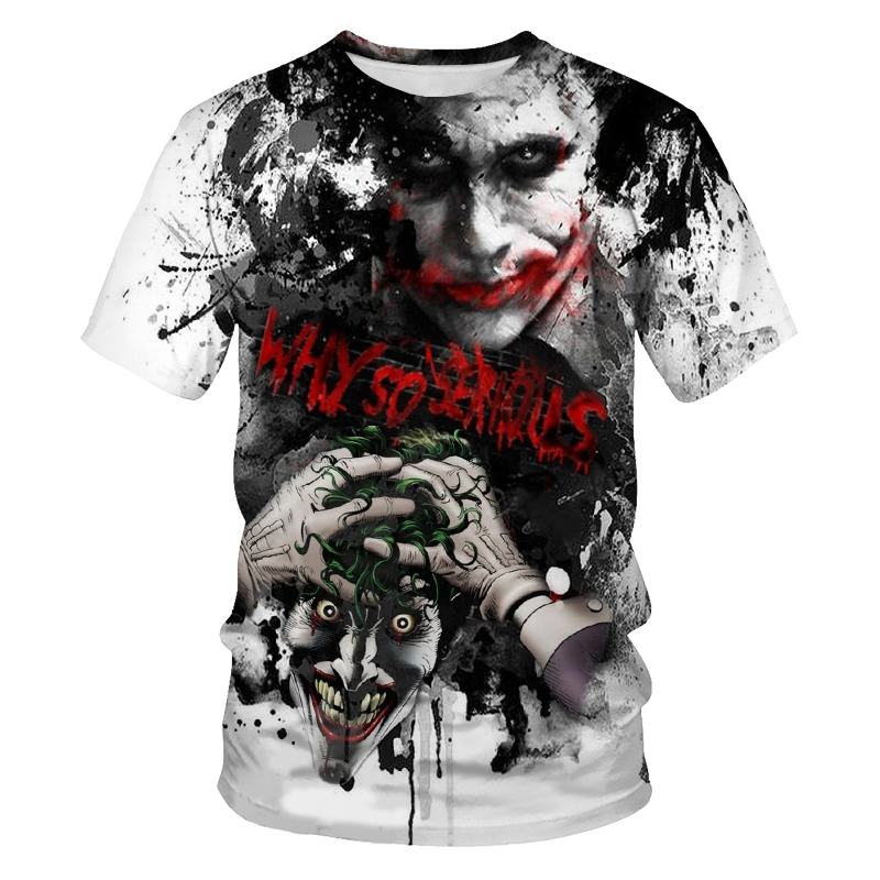 In 2021, men's and women's loose and breathable 3D printed film and television characters are fashionable and versatile T-shirts