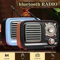 Bluetooth Portatile Retro Radio Bass Speaker FM AM SW Lettore Della Carta Portatile di Mini FM AM SW USB AUX Carta di TF MP3 Multimedia Classica