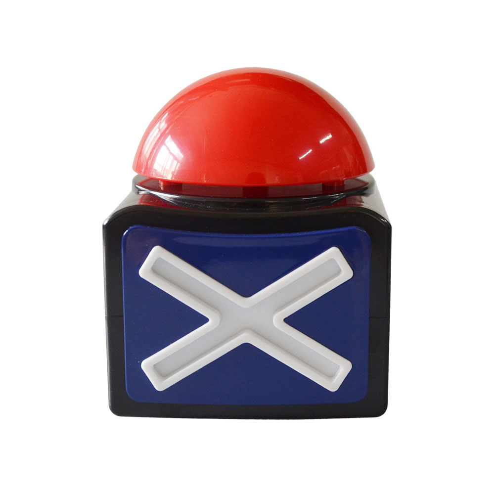 Joke Toy Prank Ring Alarm Button Got Talent Quiz ABS Relieve Stress Fun Loud Trivia Sound Light Game Answer Buzzer
