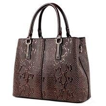 Large Capacity Top-Handle Bag Luxury Handbags Women Bags Designer Snakeskin Pattern Shoulder Crossbody Bag for Women 2021 Bolsos