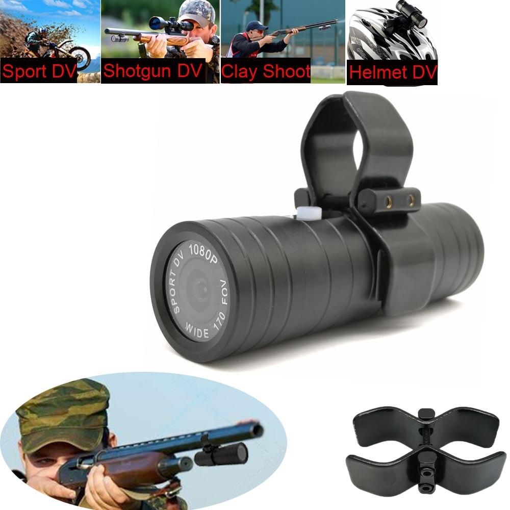 Al aire libre cámara de acción deportiva arma escopeta de caza Cámara rastro HD 1080P casco de la bici DVR de grabación en bucle