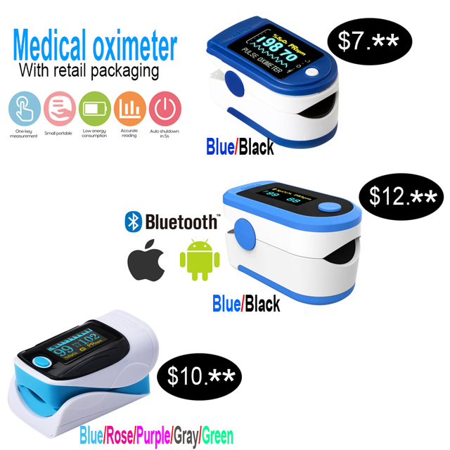 Medical Digital Fingertip Pulse Oximeter OLED Display Blood Oxygen Sensor Measurement Meter for Home Sports De Dedo Oximeter