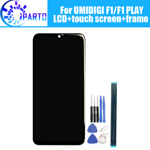 Image 1 - 6.3 inch UMIDIGI F1 LCD Display+Touch Screen Digitizer +Frame Assembly 100% Original New LCD+Touch Digitizer for UMIDIGI F1 PLAY