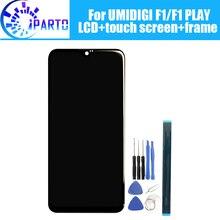 6.3 인치 umidigi f1 lcd 디스플레이 + 터치 스크린 디지타이저 + 프레임 어셈블리 umidigi f1 play 용 100% 오리지널 lcd + 터치 디지타이저
