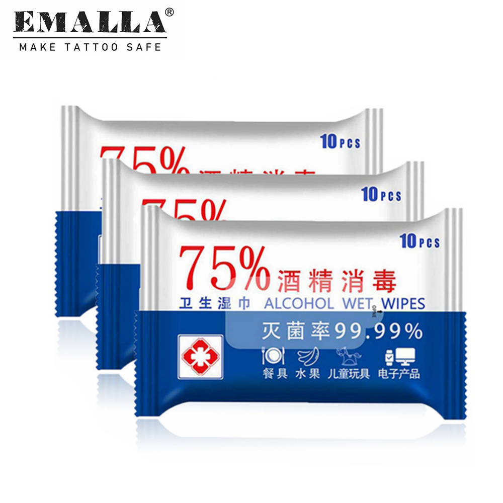 30PCS Disposable Alcohol Wipes Portable Hand Towel Swabs Pads Wipes Safe And Hygienic Wet Wipes Tattoo Supplies Free Shipping