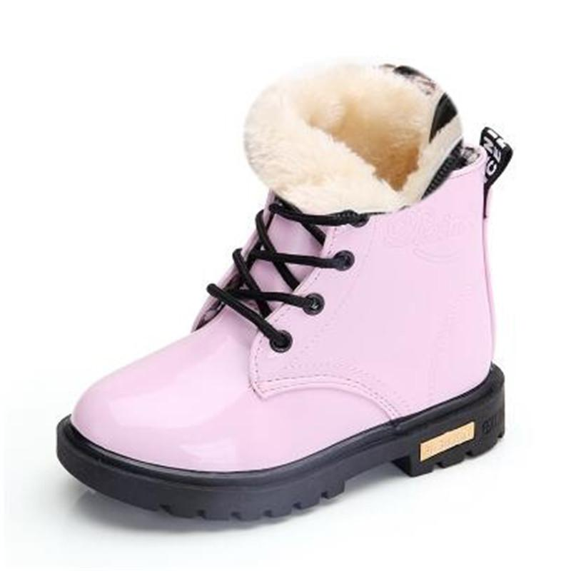 Kids Shoes Girls Boys PU Leather Lace Up High Children Sneakers Girl Baby Shoes Sport Autumn Winter Children Shoes