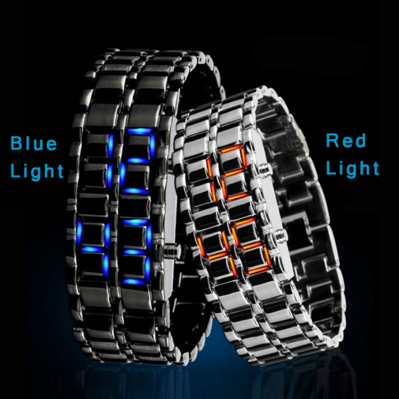 Fashion Youth Sports Cool Watches Waterproof Electronic Second Generation Binary LED Digital Men's Watch Alloy Wrist Strap Watch