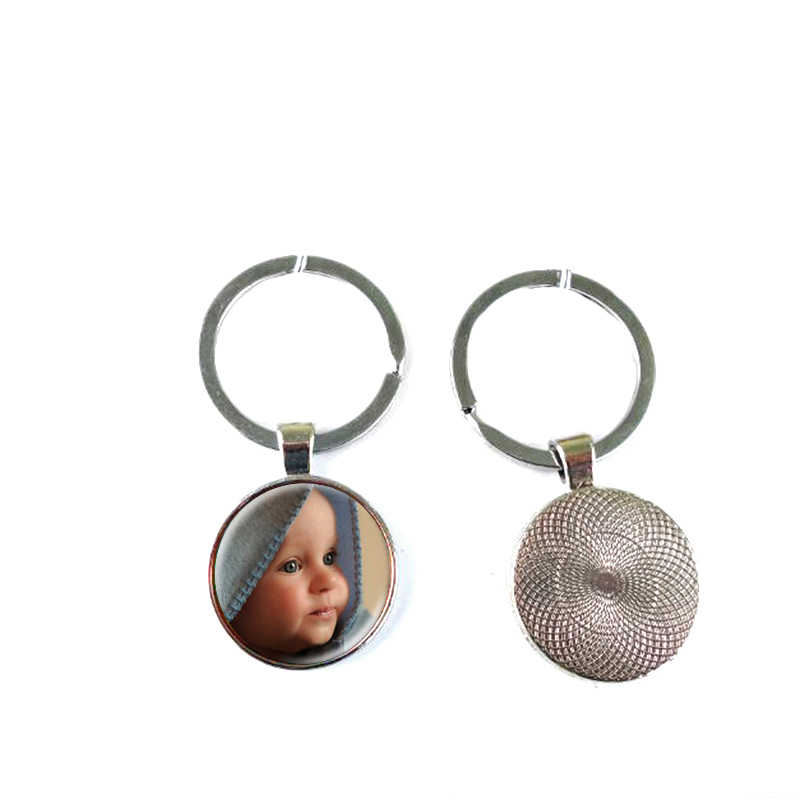 Personalized Photo Key Chain Ring Custom Photo of Your Baby Child Mom Dad Grandparent Loved One Gift for Family Member Gift