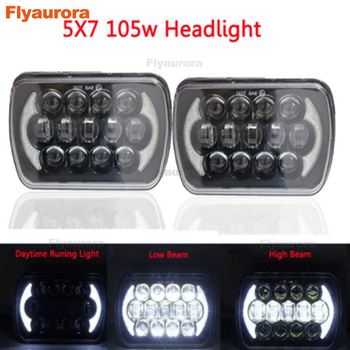 5x7 inch Square headlight H6014 H6052 H6054 105W Hi/Lo Beam for 1986-1995 for Jeep Wrangler YJ and 1984-2001 Jeep Cherokee XJ